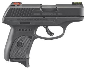 Ruger 03270 LC9S Striker-Fired Compact 9mm 3.12 Inch Blued Barrel HiViz Lightwave Fiber Optic Sights Black 7 Round