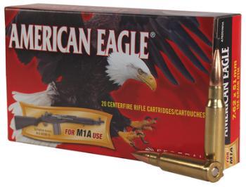Federal A76251M1A American Eagle 7.62x51mm NATO 168 Grain Open Tip Match 20 Round Box