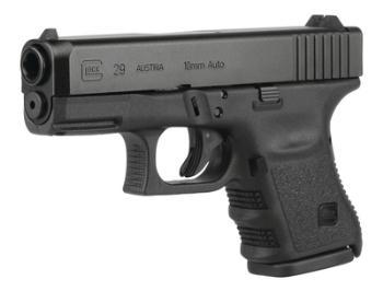 Glock PG2950201 GLK 29 Gen4 10mm 3.78 Inch Barrel Black Finish Fixed Sights 10 Round
