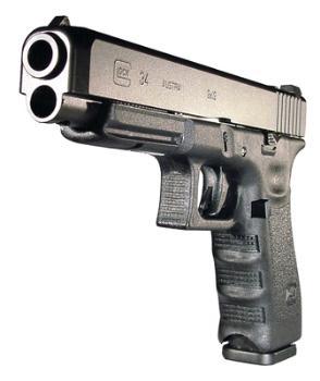 Glock PI3430101 GLK 34 9mm 5.32 Inch Barrel Black Finish Adjustable Sights 10 Round