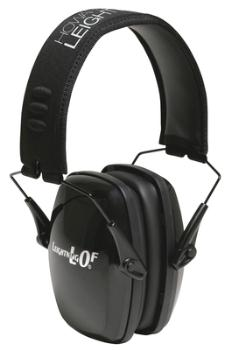 Howard Leight R01523 Leightning LOF Ultra Slimline Earmuff Black Headband with Black Earcups