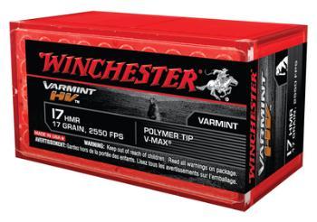 Winchester S17HMR1 Varmint High Velocity .17 HMR 17 Grain V-Max 50 Per Box