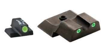 Ameriglo SW-145 Classic Tritium 3-Dot Night Sights For S&W M&P Shield Green Front Green Rear