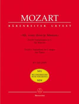 """Ah, vous dirai-je Maman"" KV 265 (300e) -Zwolf Variationen in C fur Klavier- piano"